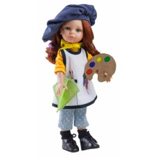 04652 Кукла Кристи художница, 32 см