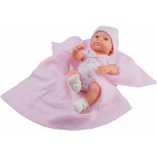 05107 Кукла Бэби с розовым пледом, 32 см