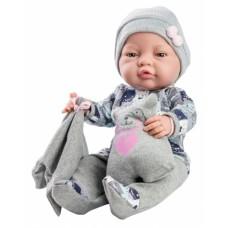05182 Кукла Бэби с одеяльцем и подушкой-медвежонок, 45 см